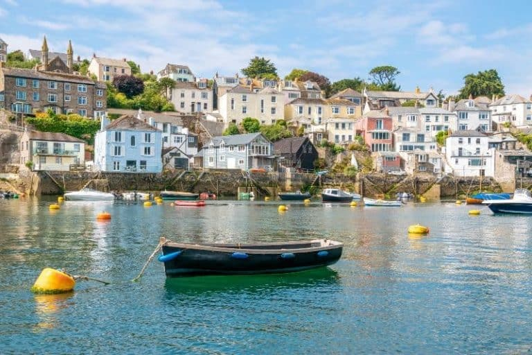 Boat and harbour in Cornwall